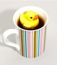 Duck...in your tea (but really it's a tea infuser)