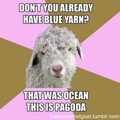 Sounds like that time when I needed Homespun in Waterfall and the yarn store only has Windsor....
