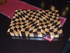 """End Grain Cutting Boards are far superior to any other cutting surface. The two boards pictured are both created in the """"Wavy Checkerboard"""" pattern, … End Grain Cutting Board, Diy Cutting Board, Custom Cutting Boards, Butcher Block Cutting Board, Butcher Blocks, Woodworking Guide, Custom Woodworking, Woodworking Projects Plans, Teds Woodworking"""