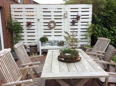 Garten Sichtschutz aus Paletten