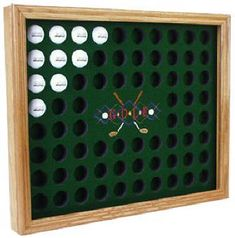 Golf ball display case via Northwest Gifts