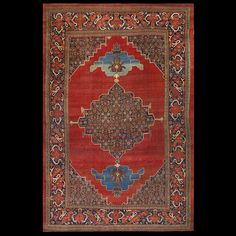 Bijar Rug - 20938 | Persian Informal 9' 6'' x 14' 4'' | Red, Origin Persia, Circa: 1880