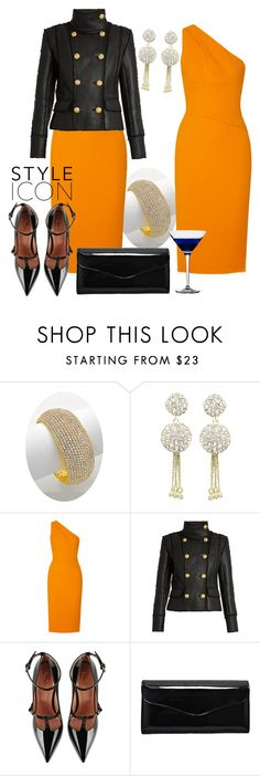 """""""Elegant Autumn"""" by shoppe23 on Polyvore featuring Narciso Rodriguez, Balmain, RED Valentino, dress, partystyle and Shoppe23"""