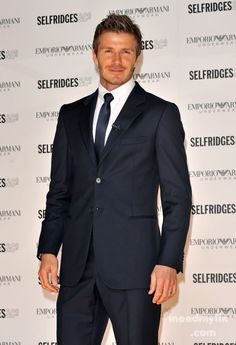All men should look this good in a suit.  :)