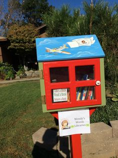 Judith Myers. Wasco, CA. Our Little Free Library is a project of Wasco Junior Woman's Club. It was built by a neighbor who is a contractor. One of our members did the beautiful painting job. It has been open for less than a month and we have received a lot of positive feedback including people thanking us, donating books, and one person that is interested in putting another one in Wasco. I love seeing the kids come and get books!