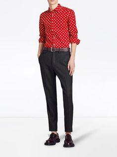 Burberry polka-dot shirt