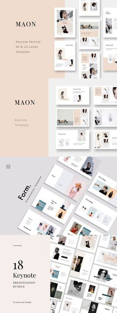 Clean, modern, minimal and creative Presentation Template Bundle in 16:9 1920x1080 Full HD and A4 & US Letter Printable Format. This awesome layouts gives you many possibilities of creativity. Easy to work, edit and drap & drop Images in shape. All shapes, icons, maps, elements are 100% vector editable and easy to change size, colors without losing quality.