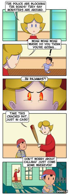 Earthbound was one of my favorite SNES games, and this always kinda made me concerned...lol