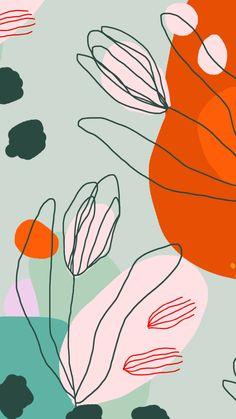 Rich color palette and floral design by L Wallpaper, Wallpaper Backgrounds, Iphone Backgrounds, Abstract Backgrounds, Colorful Backgrounds, Iphone Hintegründe, Illustration Blume, Pattern Illustration, Wedding Illustration