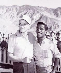 Frank Sinatra + Sammy Davis, Jr. golfing in Palm Springs