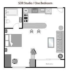 super simple studio | floor plan ideas | pinterest | apartment