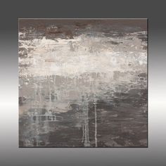 Modern Contemporary - Large Original Canvas Painting - Title: Lithosphere 68 by Hilary Winfield - 24x24 Inches