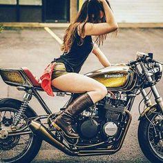 Garage Girl  #garagegirl #caferacer