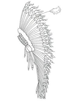 Indian headband coloring coloring pages for Indian hat template