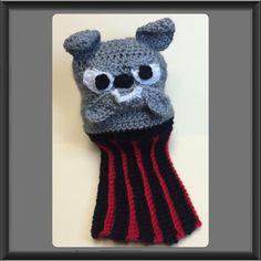 Bulldog Golf Club Cover - Crochet creation by Alana Judah