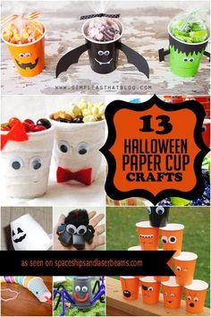 Kids Halloween Paper Cup Craft Ideas