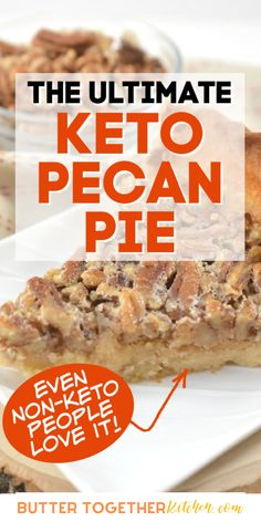 This sugar-free pecan pie recipe from Butter Together Kitchen is one that you will want to share with your family and friends. It is out of this world and fits perfectly with the Keto diet! The recipe is super easy to make and will become a family favorite that you will want to make again and again. #keto #ketorecipes #sugarfree #lowcarb #recipes #food #pie #lowcarbfood