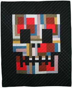 Quilter Boo Davis's heavy metal quilts would look perfect in a rock-and-roll-oriented household.