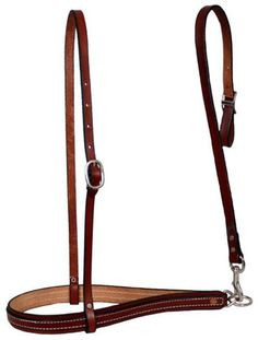 Harness Leather Noseband With Tiedown