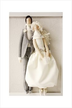 Tilda doll custom portrait, Wedding 2