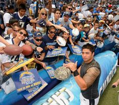 Manti Te'o - Chargers Fanfest Aug. 3, 2013, Qualcomm Stadium.
