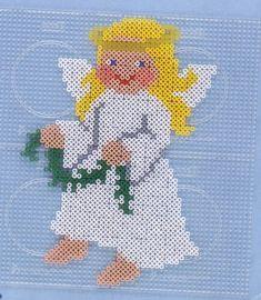 Christmas Angel Hama perler pattern