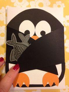 Annas kort och hantverk: Pingvin