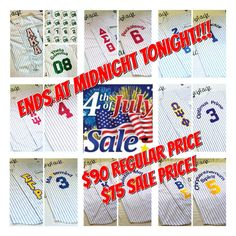 ON SALE FOR $75.00 (plus shipping) UNTIL MIDNIGHT JULY 4TH!!!        Includes Pinstripe Jersey, Athletic Twill Two-tone Greek Letters on front left chest vertically. Single color name and number on back. All patches are heat applied and sewn to garment for permanent stay.    *All items areMade-To-Order, please allow 3-4weeks for Single Item Delivery.    Available in White w/ Red, Royal, Black, Purple, Green, Navy, Maroon, orTealPinstripes.    Available in size Small to 4xl…