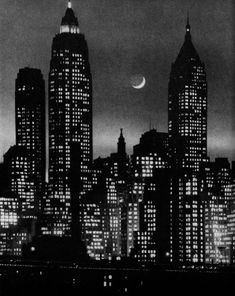 Photographer Andreas Feininger is known for capturing the essence of 1940s and '50s Manhattan, as seen in this skyscraper scene.