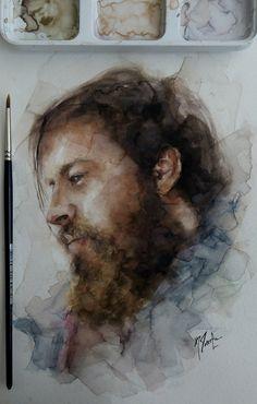 watercolor portrait 16*24