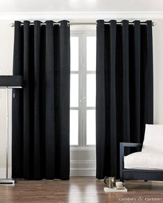 black cotton canvas eyelet lined curtain curtains and curtains uk