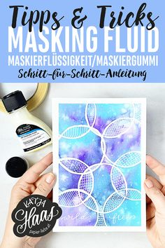 Watercolor Masking Fluid, Watercolor Lettering, Brush Lettering, Kids Art Class, Art For Kids, Grafik Design, Art Techniques, Diy Art, Tricks