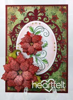 Heartfelt Creations   Red Poinsettia Swirls
