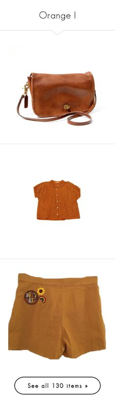 """""""Orange I"""" by flowersoflife ❤ liked on Polyvore featuring bags, handbags, purses, accessories, leather handbags, leather hand bags, man shoulder bag, man leather shoulder bag, leather shoulder handbags and tops"""