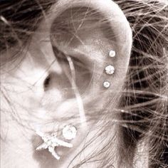 Ear piercing | obsessed with the triple on top! <3
