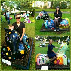 Legless horses in the park