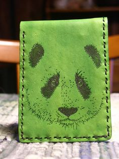Handmade Green Leather Basic Wallet w/ Baby by CSherwoodLeather, $33.00