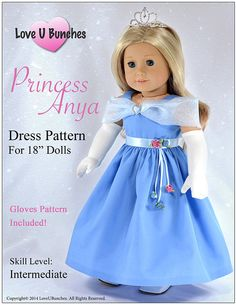 Pixie Faire Love U Bunches Princess Anya by PixieFairePatterns, $5.99