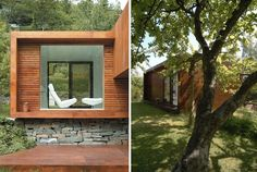 I used to be anti-cement and concrete but against and with wood, concrete is truly transformed.