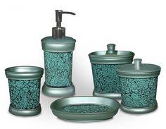 Unique Turquoise Bathroom Accessories for Decoration - LightHouseShoppe.com - Decorating Bathroom with Turquoise Bathroom Accessories