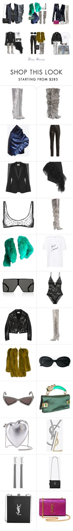 """""""Saint Laurent Gang, Gang, Gang, Gang, Gang"""" by adswil ❤ liked on Polyvore featuring Yves Saint Laurent, Hedi Slimane, YSL RIVE GAUCHE and Tom Ford"""