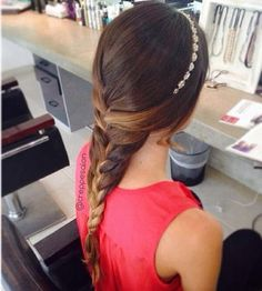 Princess braid, very pretty and shows off the highlights and lowlights in your hair!