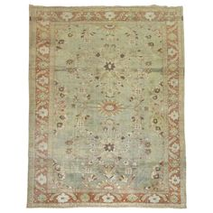 Persian Mahal Carpet   From a unique collection of antique and modern persian rugs at https://www.1stdibs.com/furniture/rugs-carpets/persian-rugs/