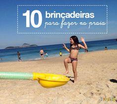 Uma lista de brincadeiras para fazer na praia que qualquer pessoa pode fazer. É diversão garantida para toda a família.