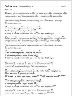 Songtext mit Akkorden