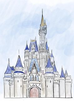 I Wanted To Try Digital Sketching So I Drew Cinderella S Castle On