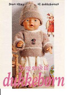 Album Archive - Dukketøj til Baby Born 2 - Ingelise Baby Born Clothes, Preemie Clothes, Knitting Dolls Clothes, Doll Clothes Patterns, Knitted Doll Patterns, Knitted Dolls, Knitting Patterns Free, Baby Knitting, Crochet Baby