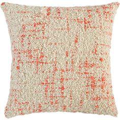 "bouclé orange 20"" pillow in all rugs/pillows | CB2 $29.95"