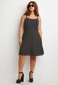 Polka Dot Babydoll Dress   Forever 21 PLUS   #forever21plus