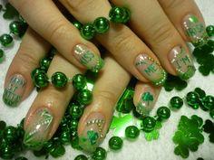 St. Patrick's Day nail polish design...so simple and so cute!